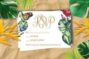 Tropical Wedding RSVP DiY