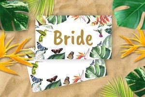 Tropical Wedding Place cards DiY