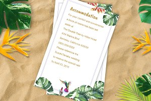 Tropical Wedding Accommodation DiY