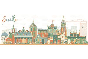 Abstract Seville Skyline