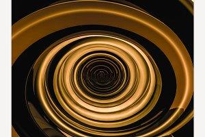 Swirly gold shape
