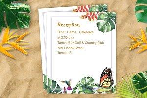 Tropical Wedding Reception DiY