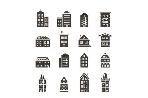 City buildings vector illustration
