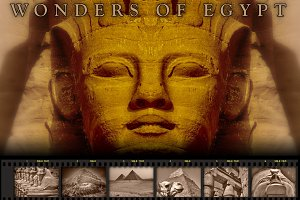 Wonders of Egypt (sepia version)