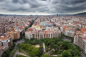 City Of Barcelona From Above