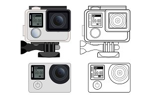 Action camera illustration
