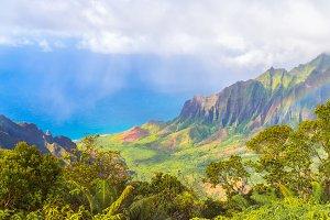 Amazing Na Pali coast, Hawaii