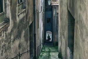 Street in small Italian town