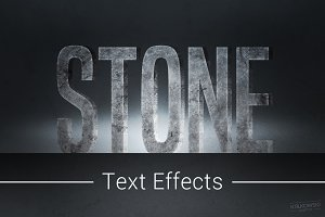 Stone Text Effects Mockup
