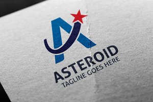 Asteroid (A Letter) Logo