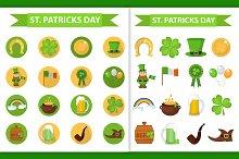 St. Patrick's day icons set
