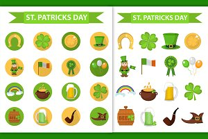 St. Patrick's day icons set