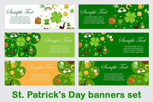 St. Patrick's Day banners set