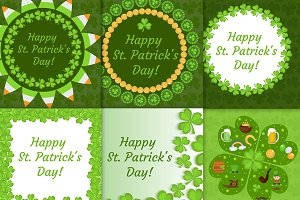 St. Patrick's Day greeting card set