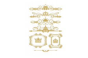 Gold Element Antique Vector