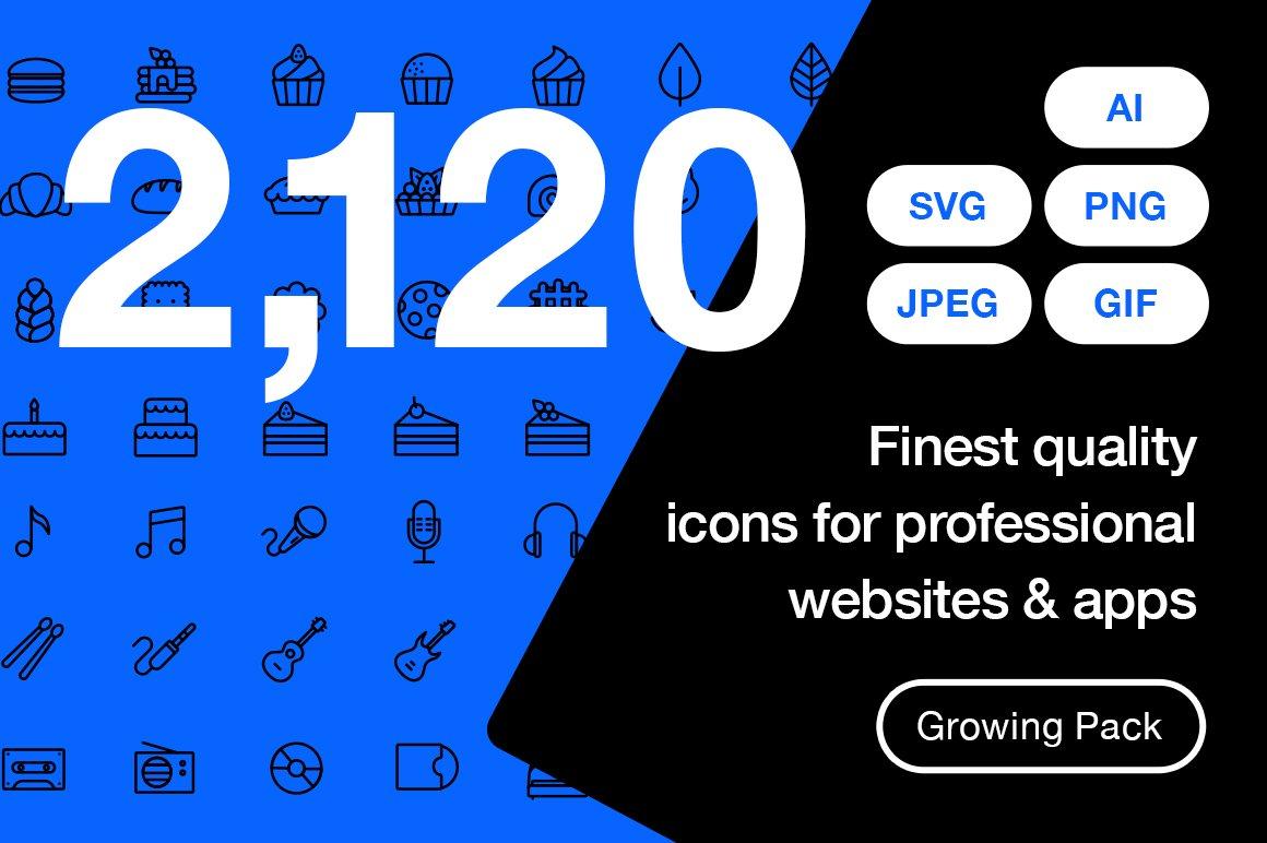 Icons creative market ultimate line icons pack buycottarizona Choice Image