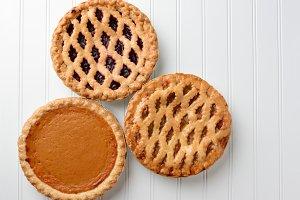 Apple Pumpkin Cherry Pies