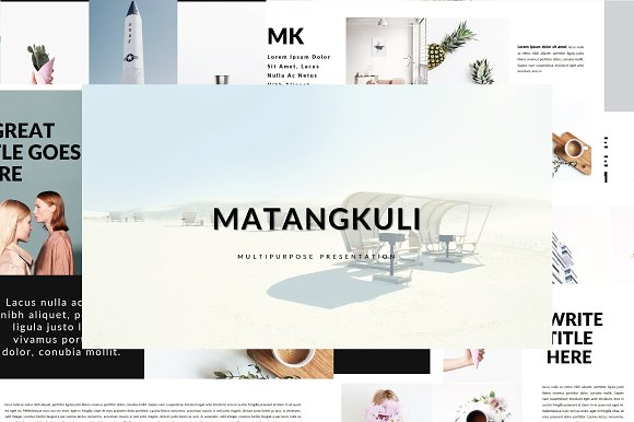 matangkuli minimal keynote presentation templates creative market. Black Bedroom Furniture Sets. Home Design Ideas