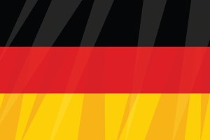 German state flag three colors black red yellow