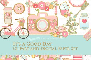 It's a Good Day Clipart+Pattern set