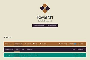 Royal UI - Bootstrap 3 Skin