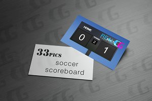 soccer scoreboard score