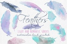 Feathers Watercolor hand painted