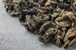 Dry black Chinese mushrooms