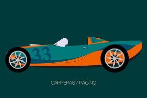 retro modern race car