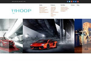 Whoop - creative WordPress Theme