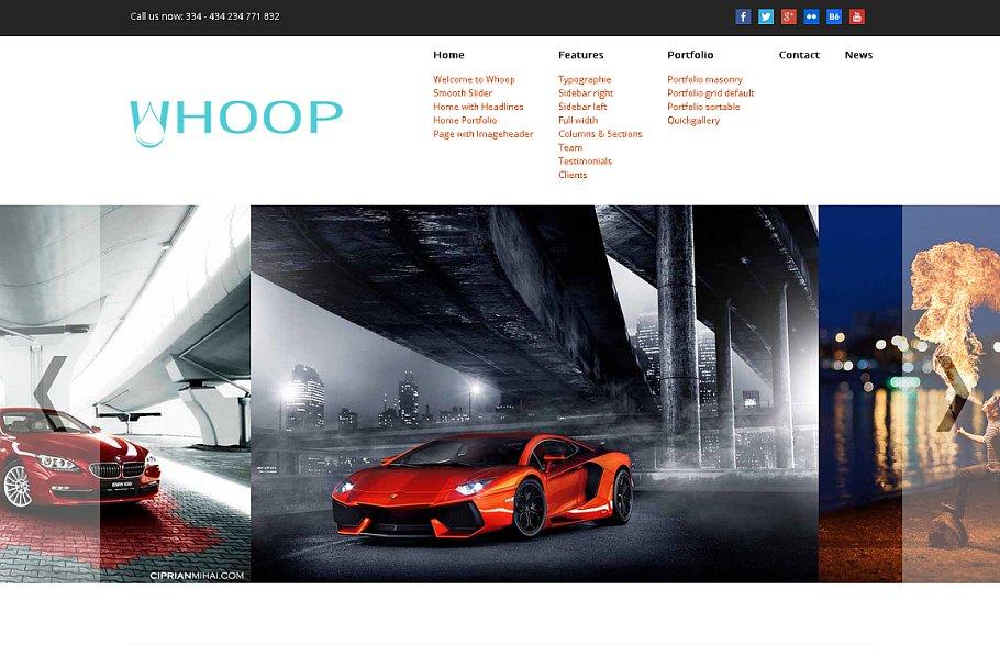Whoop WordPress theme  