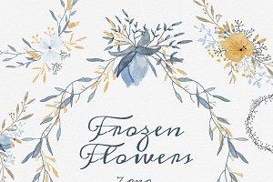 Frozen flowers - 7 png files