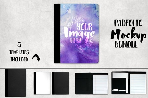 Download Padfolio Notepad Cover Mockup