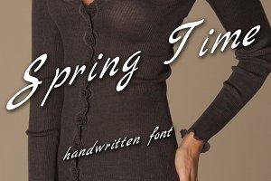 """Written font family """"Spring Time"""""""