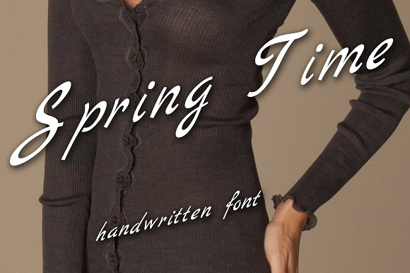 Written Font Family Spring Time