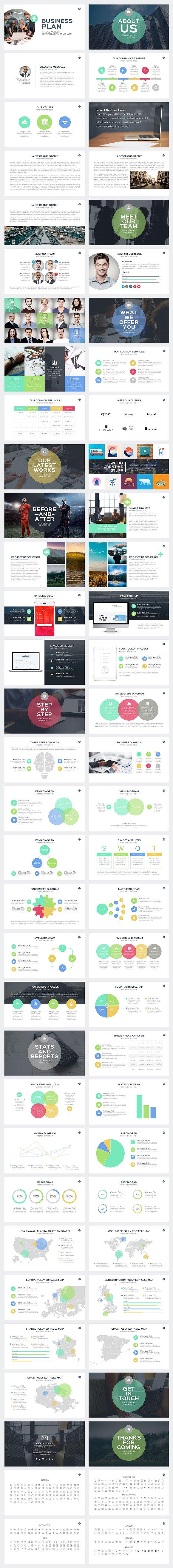 business plan powerpoint template presentation templates creative market