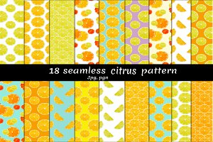 Citrus seamless patterns