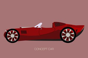 race concept car vector