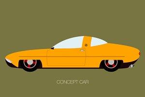 retro concept car