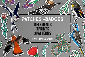 11 Patches + 3 Prints + 3 Patterns