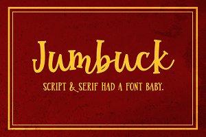 Jumbuck: a serif script font!