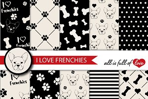 Black and White Frenchie Papers
