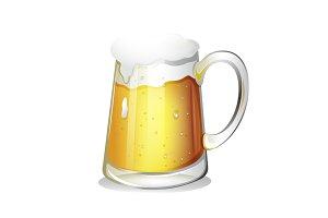 Illustrated Beer Mug