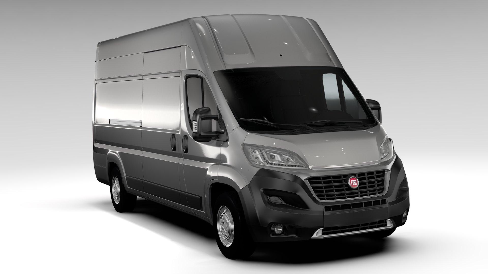 fiat ducato van l4h3 2017 vehicle models creative market. Black Bedroom Furniture Sets. Home Design Ideas