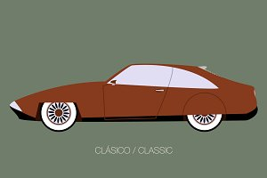 vintage european classic car