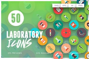 50 Laboratory Icons Vol.3