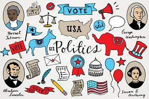 US Politics & Voting Illustrations