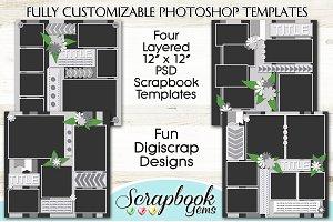 Layered PSD Scrapbook Templates