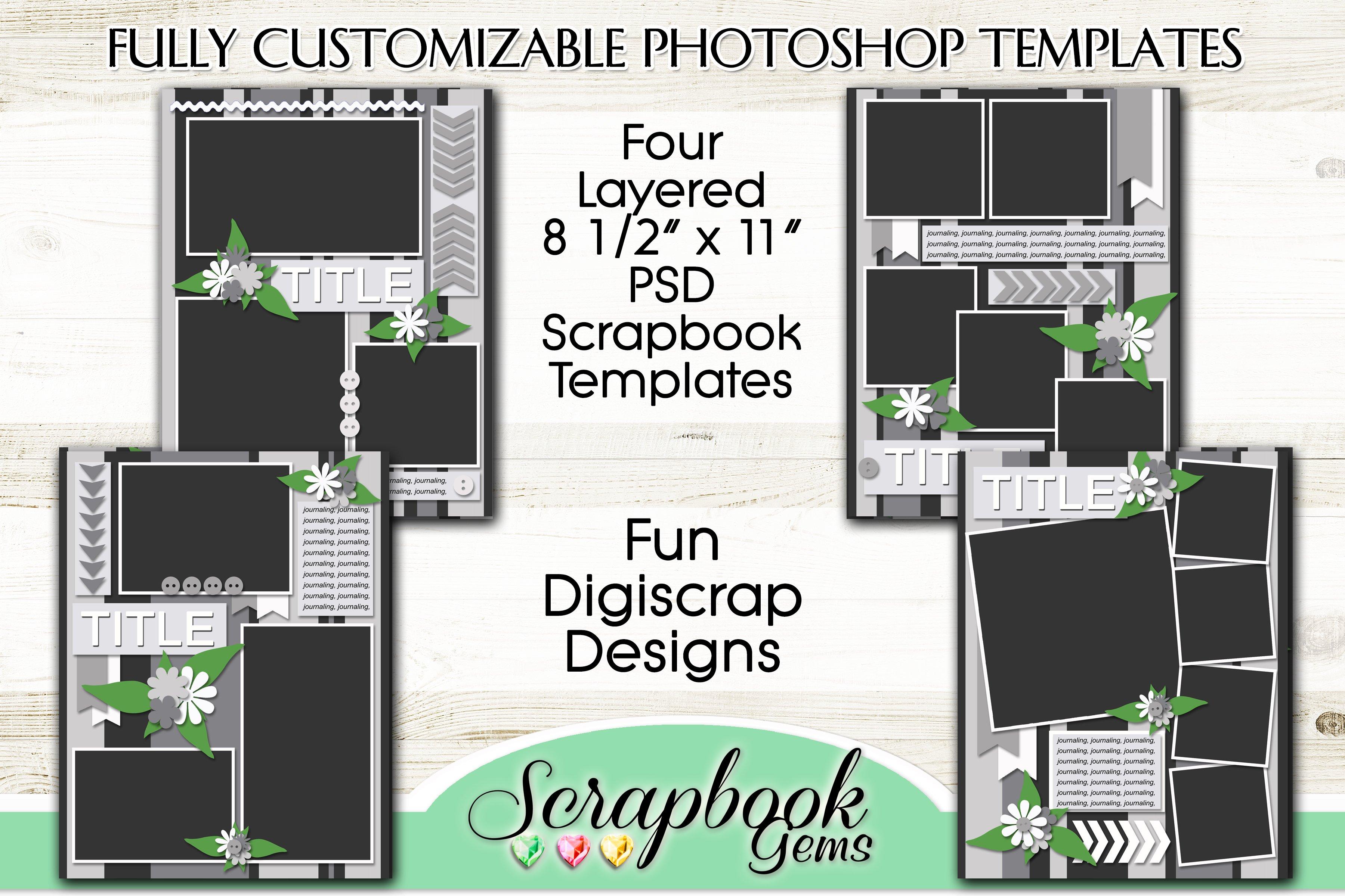 Layered psd scrapbook templates ~ templates ~ creative market.