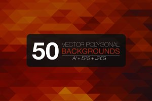 50 polygonal vector backgrounds